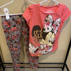 Mine Mouse Girls Pant Set Size 6